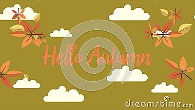Metraggio ciao dell'autunno con il fondo della nuvola video d archivio