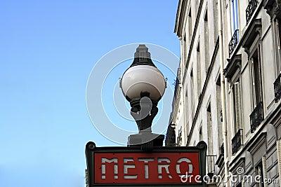 Metro On Avenue Jean Jaures In Paris Editorial Photography