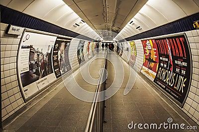 Metro de Londres Imagen editorial
