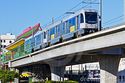 Metro Gold Line Train Depart Chinatown Station Editorial Stock Photo