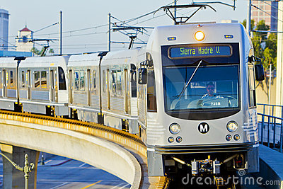 Metro Gold Line Train Departs Union Station Editorial Stock Image
