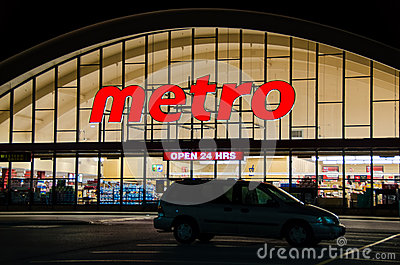Metro Grocery Store Editorial Image