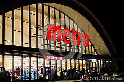 Metro Grocery Store Editorial Photo