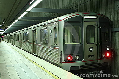 Metro Line Subway Train Royalty Free Stock Images Image