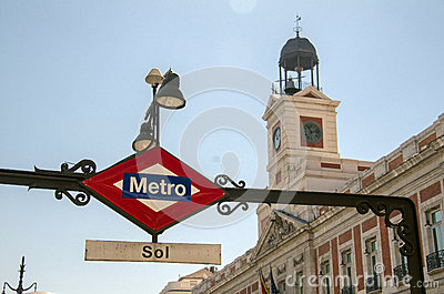 Metro in Madrid, Spain Editorial Photography