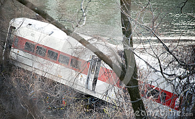 Metro North train derailment in the Bronx Editorial Photo