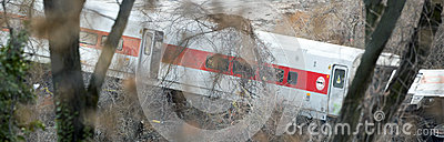 Metro North train derailment in the Bronx Editorial Photography