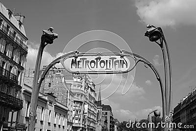 Metro Paris Editorial Image