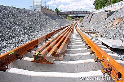 Metro railway construction site