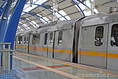 Metro Railway Transit  New Delhi India