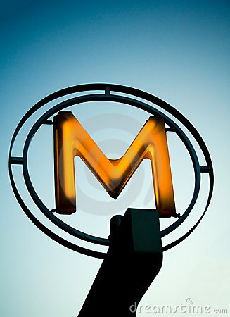 Metro Sign Editorial Photo