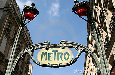Metro Sign, Paris, France Editorial Stock Image
