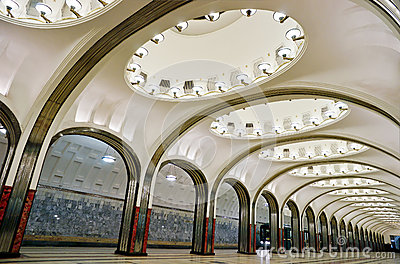 Metro station in Moscow Editorial Stock Photo