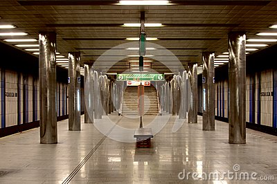 Metro station in Prague