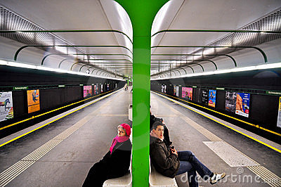 Metro station in Vienna Editorial Photography
