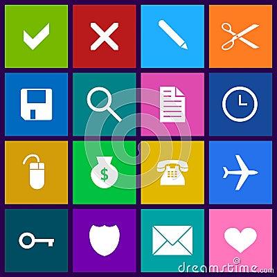Metro style icon set