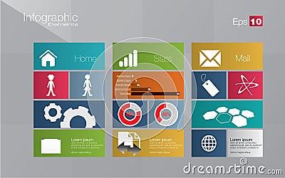 Metro style infographic concept