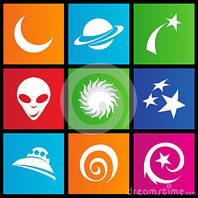 Metro style space icons