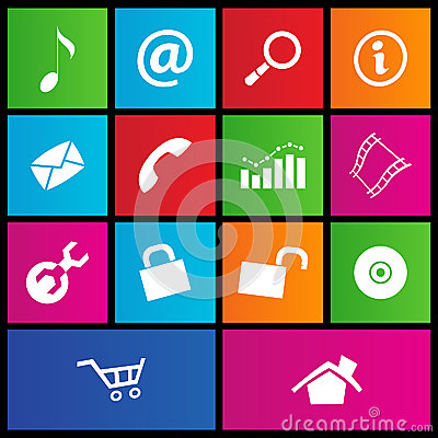 Metro style web icons 2