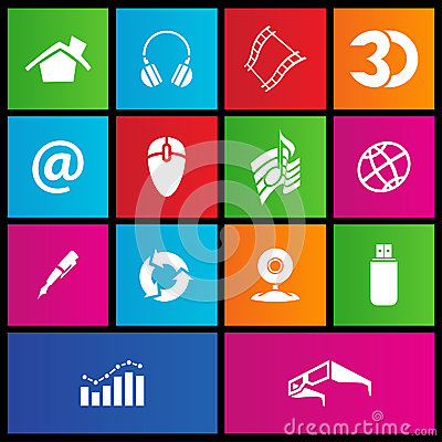 Metro style web icons