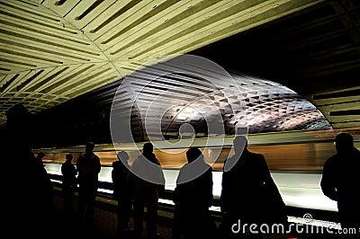 Metro (Underground) in Washington DC. Editorial Stock Photo