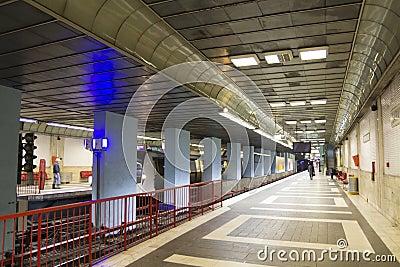 Metroen posterar Redaktionell Arkivbild