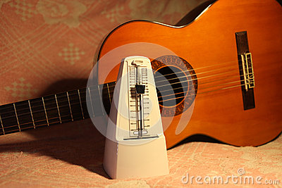 Metronome with classical guitar