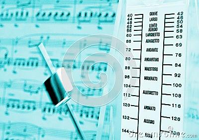 Metronome & music score