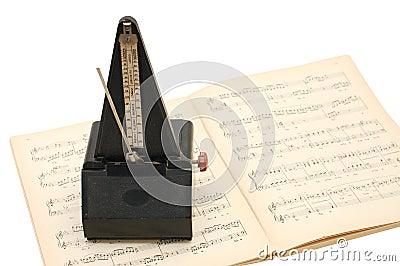 Metronome on sheet music