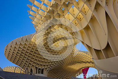 Metropol Parasol building in Sevilla,Spain Editorial Stock Photo