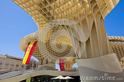 Metropol Parasol in Sevilla,Spain Editorial Photography