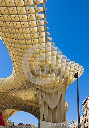 Metropol Parasol, Seville,Spain Editorial Stock Photo