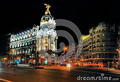 Metropolis Building, Landmark in Madrid Editorial Photography