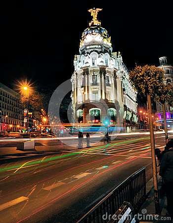 Metropolis Building, Madrid, Spain Editorial Photography