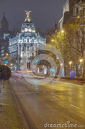 Metropolis building at Madrid, Spain