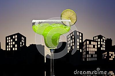 Metropolis green Margarita cocktail