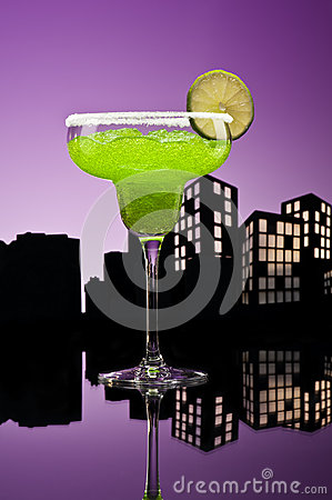 Metropolis green Margarita cocktail
