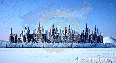 Metropolis industrial snow