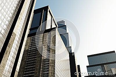 Metropolis skyscrapesrs 3D render 03