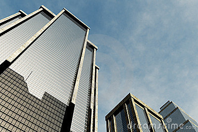 Metropolis skyscrapesrs 3D render