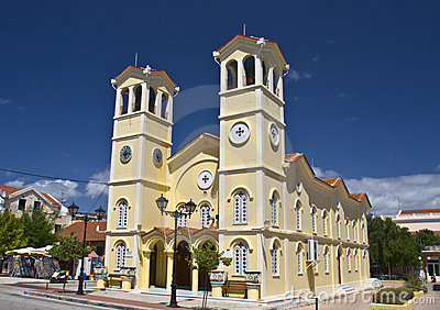 Metropolitan church at Lixouri of Greece