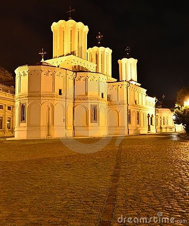 Metropolitan church of Romania, Bucharest (night)