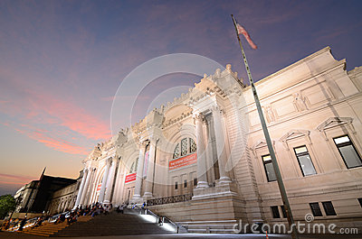 Metropolitan Museum of Art in New York City Editorial Stock Image