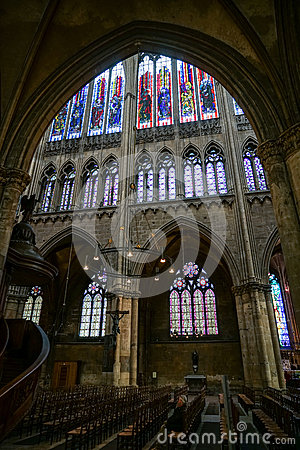 Free METZ, FRANCE/ EUROPE - SEPTEMBER 24: Interior View Of Cathedral Stock Photos - 70628573