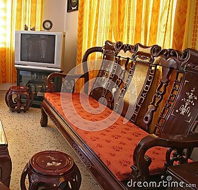 Meubles chinois antiques de bois de rose photographie for Meuble antique chinois