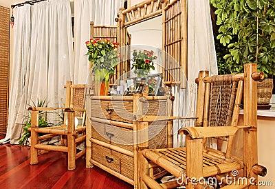 meubles en bambou ethniques photo stock image 15202540. Black Bedroom Furniture Sets. Home Design Ideas