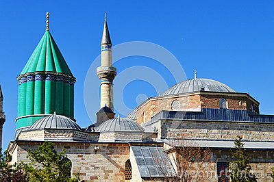 Mevlana Museum in Konya Central Anatolia, Turkey.