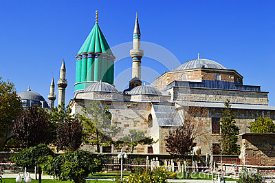 Mevlana Museum in Konya Central Anatolia, Turkey.