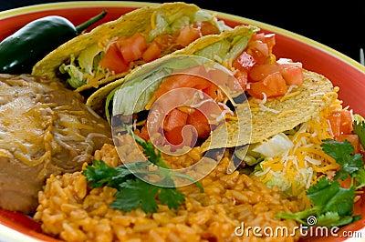 Mexicaanse voedselplaat