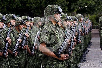 Mexican Army soldiers Editorial Stock Photo